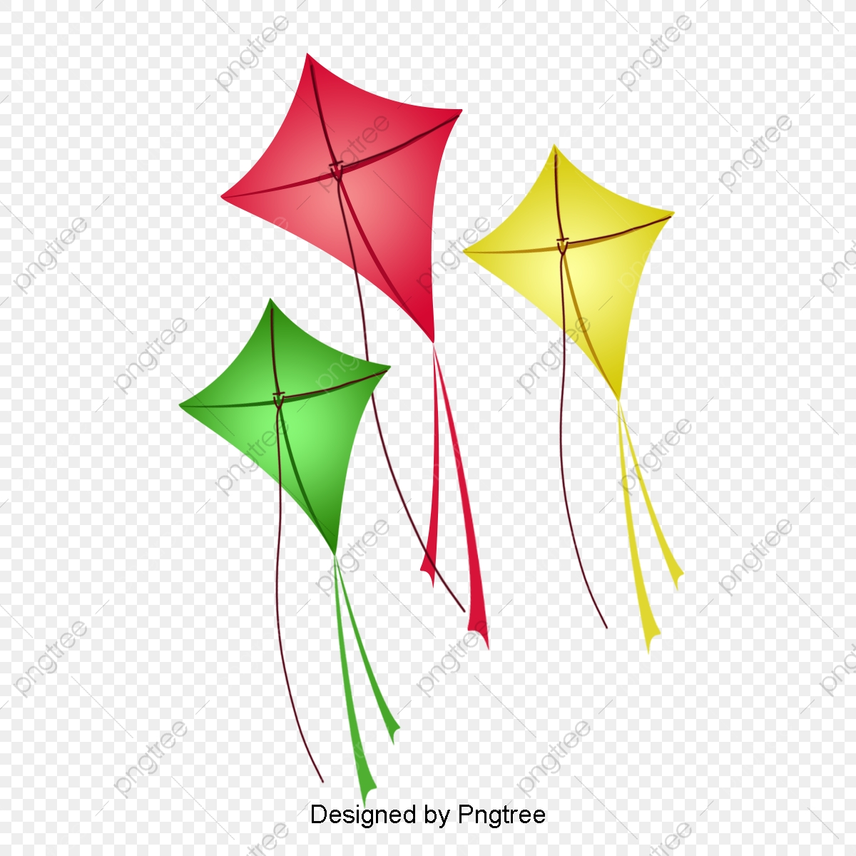 Kite Vector File, Kite Clipart, Outdoor Activity, Colorful Kites PNG.