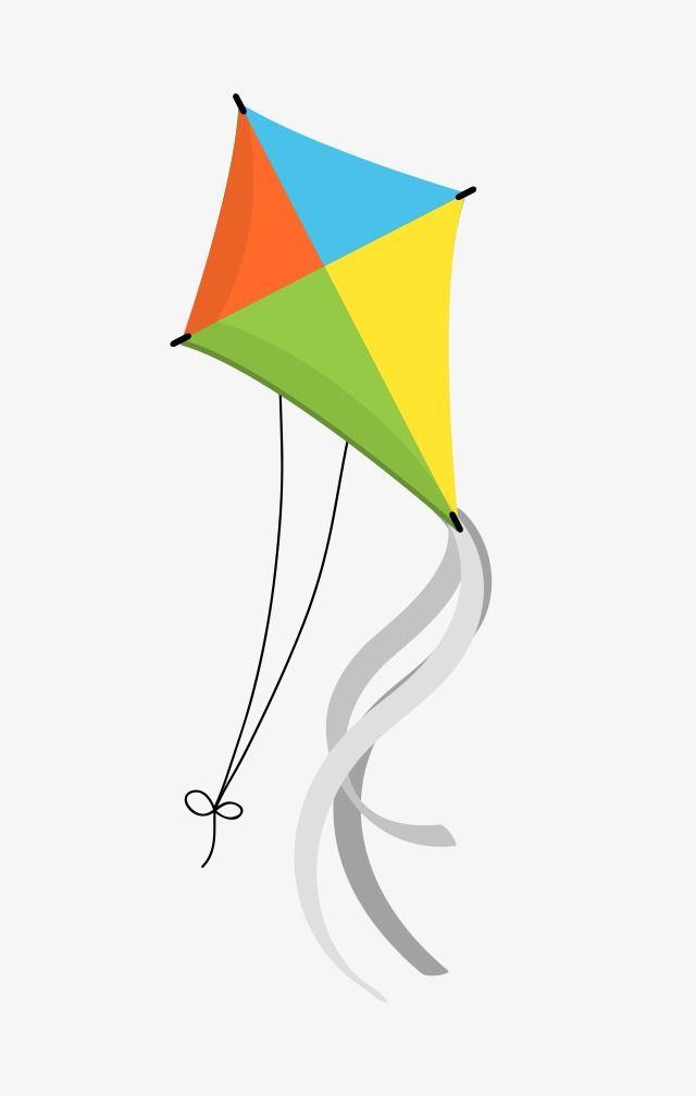 Cartoon Kite, Cartoon Clipart, Fly A Kite, Color Kite PNG.