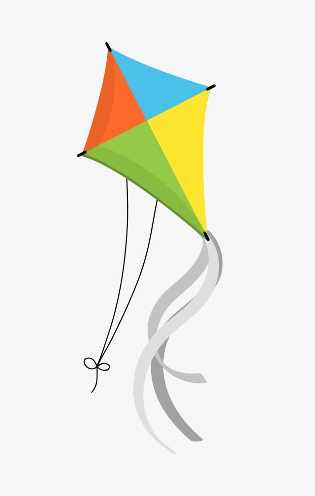 Cartoon Kite, Cartoon Clipart, Fly A Kite, Color Kite PNG.