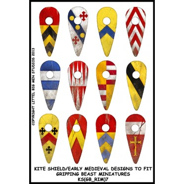 Buy Kite Shield / Early Medieval Designs (Gripping Beast).