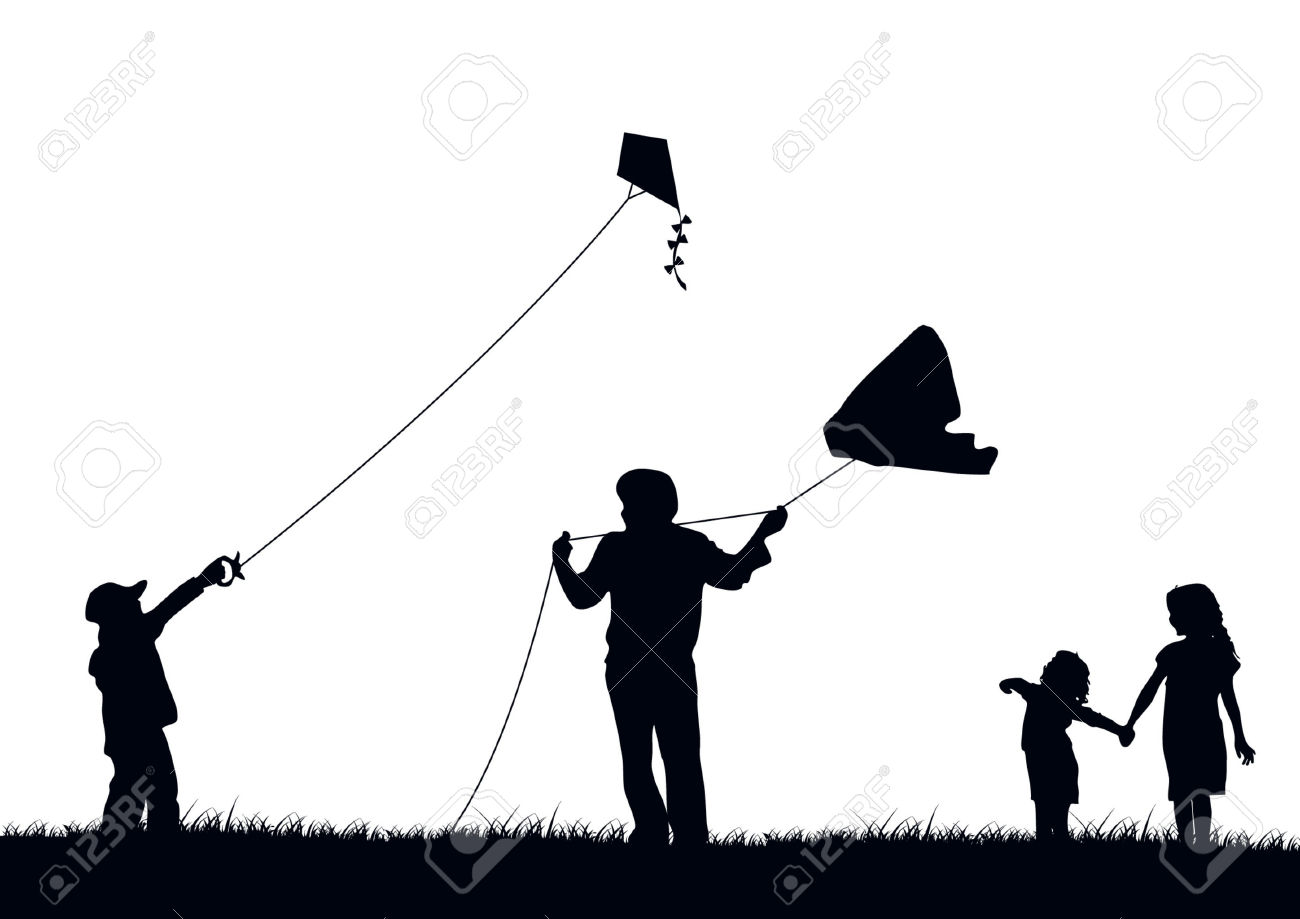 Family Flying Kite Royalty Free Cliparts, Vectors, And Stock.