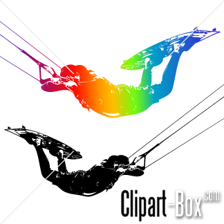 CLIPART KITE SURFER.