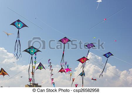 Stock Images of Kite festival.