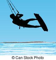 Kiteboarding Vector Clipart Royalty Free. 140 Kiteboarding clip.