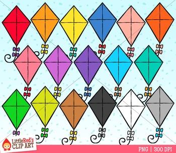 Rainbow Kites Clipart.