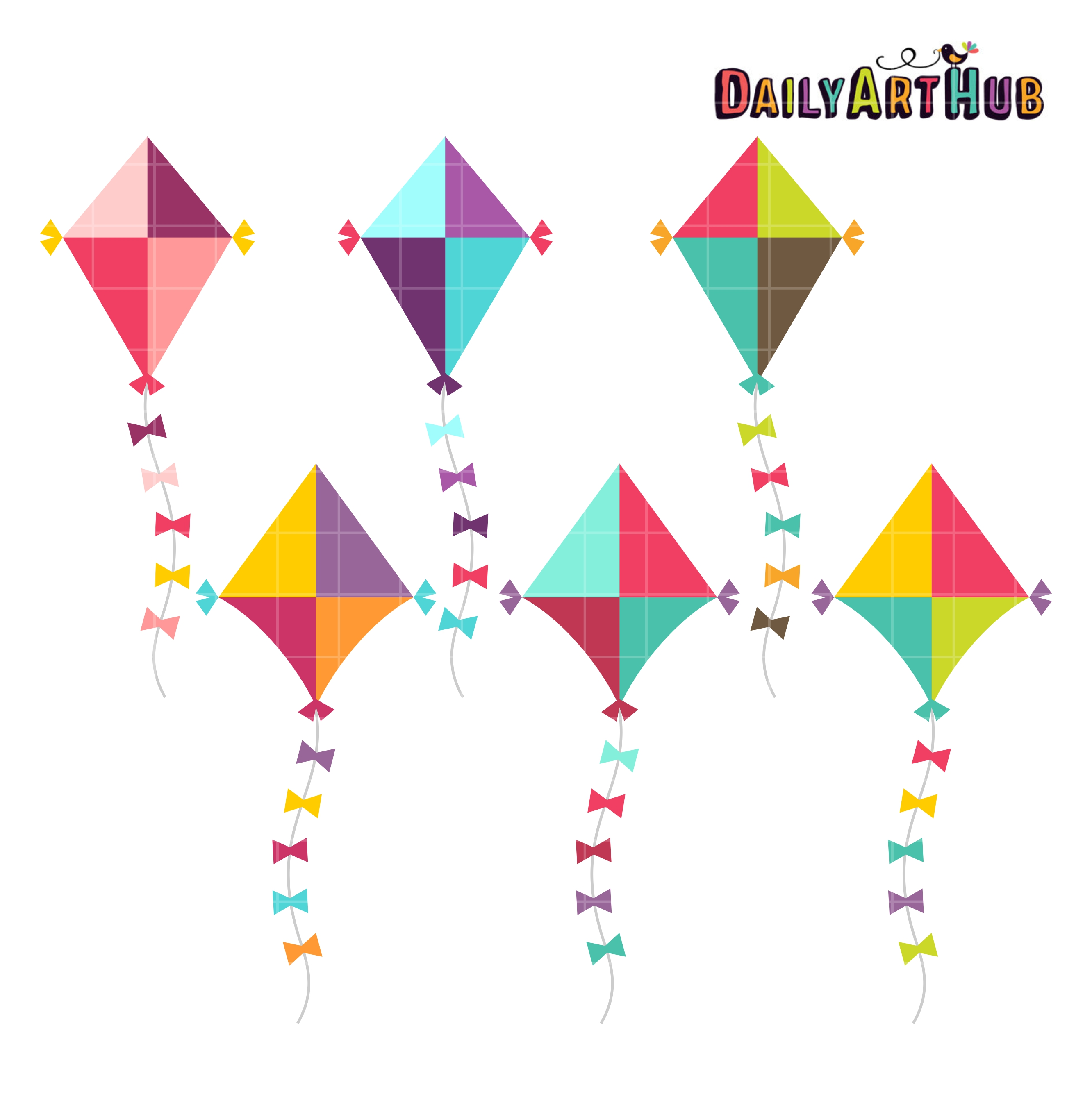clipart kite flying - photo #23