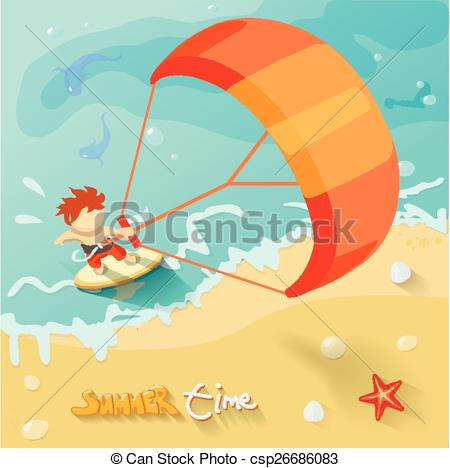 Kitesurf Vector Clipart Royalty Free. 108 Kitesurf clip art vector.