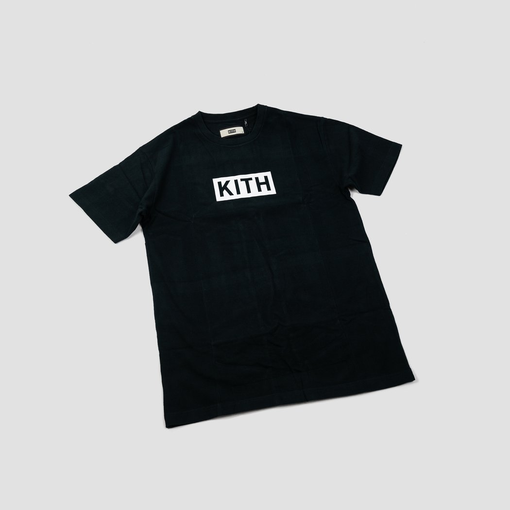 KITH BOX LOGO TEE BLACK.