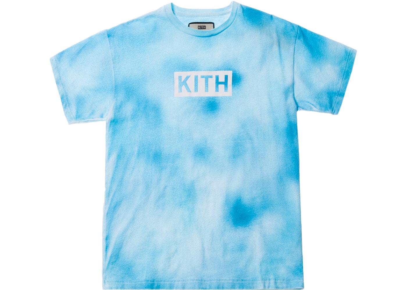 Kith Tie Dye Box Logo Tee Blue.