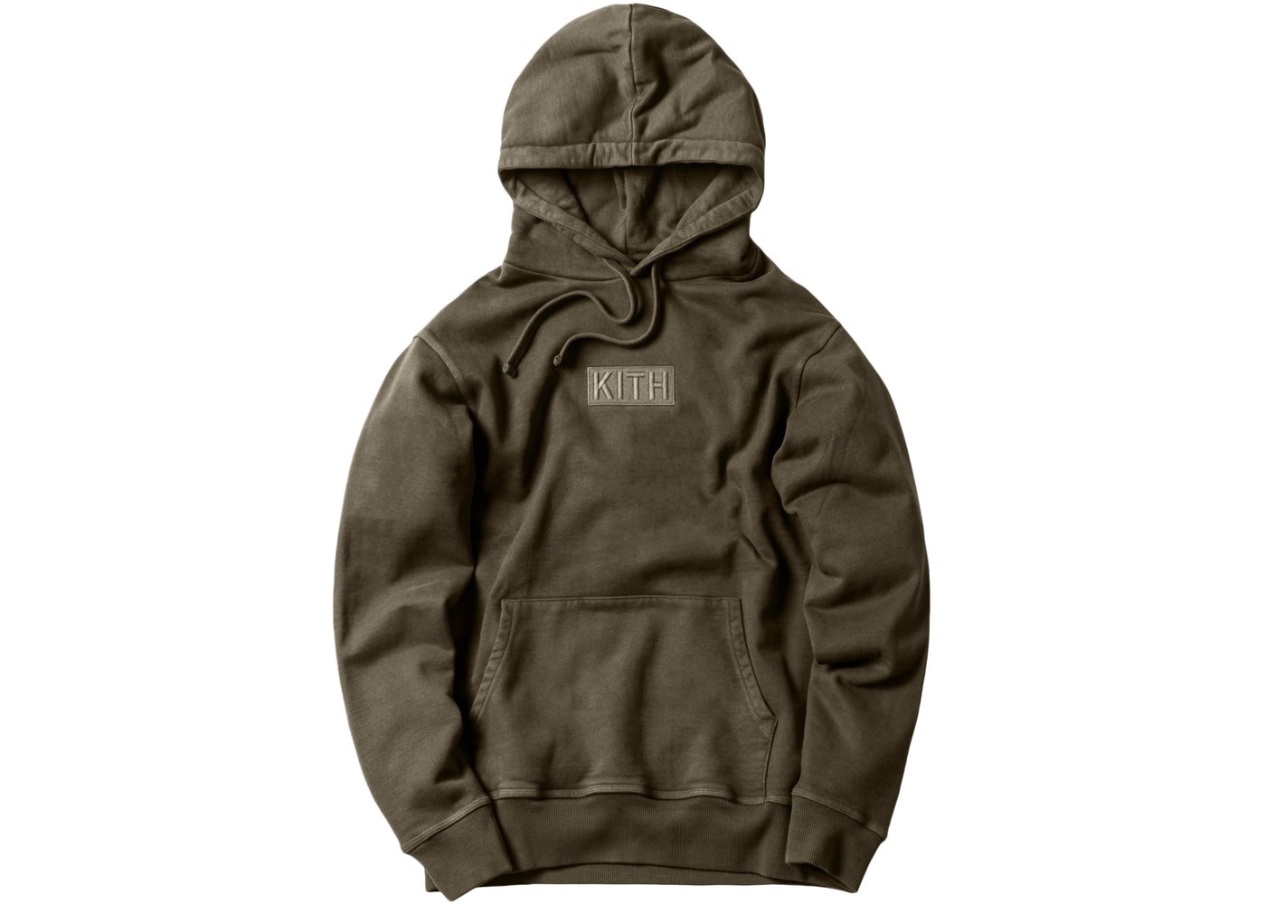 Kith Classic Logo Hoodie Olive.