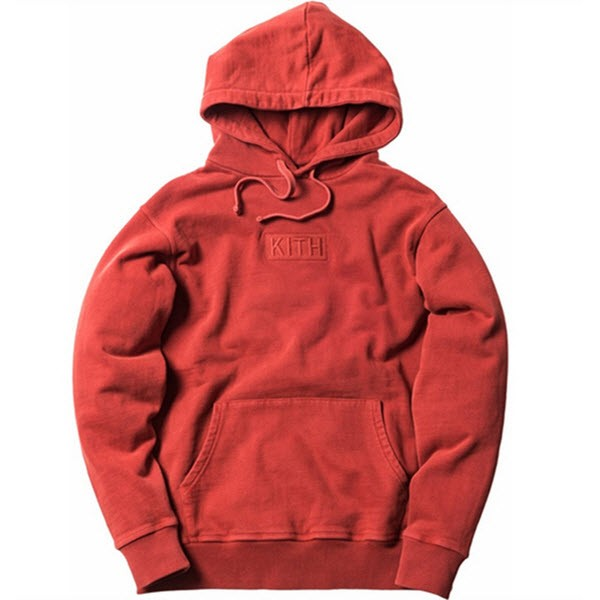 Kith Tonal Box Logo Hoodie (Red).