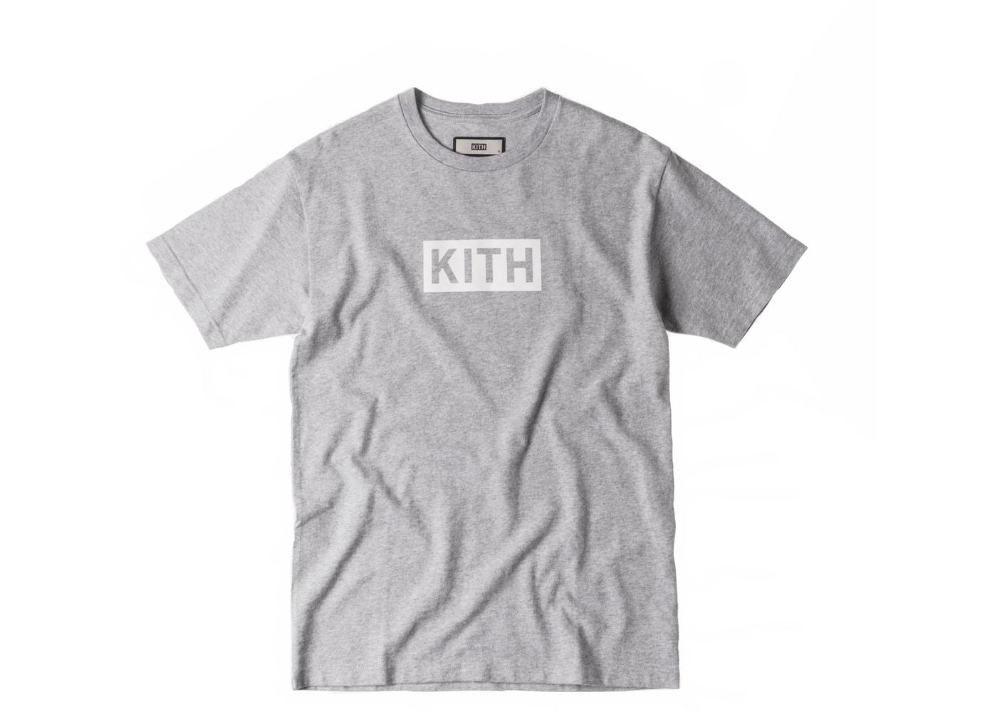 Kith Classic Logo Tee Heather Grey.