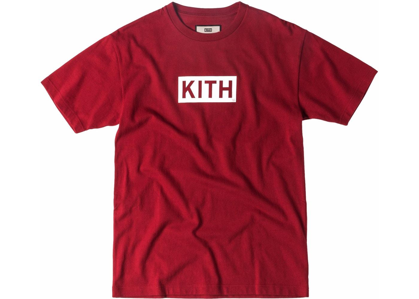 Kith Classic Logo Tee Red.