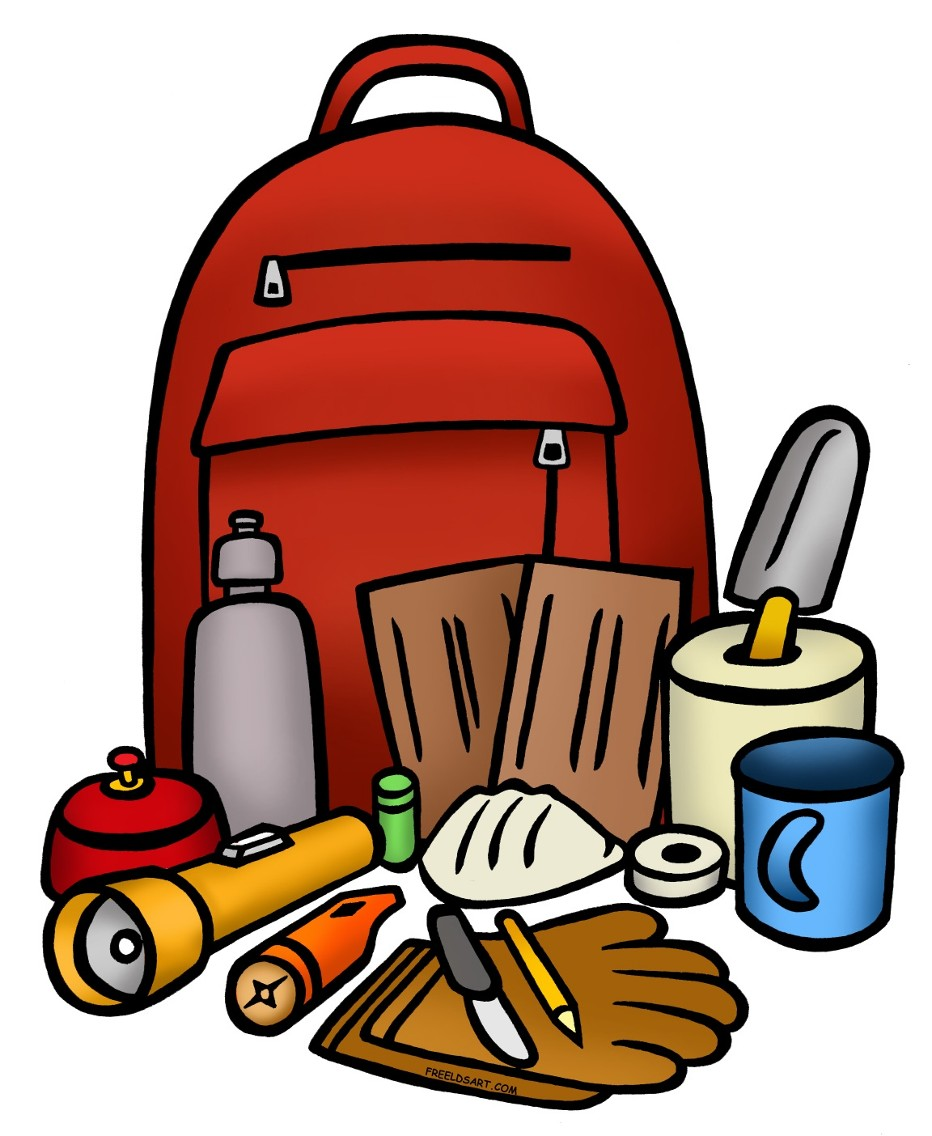 Survival Kit Clipart.