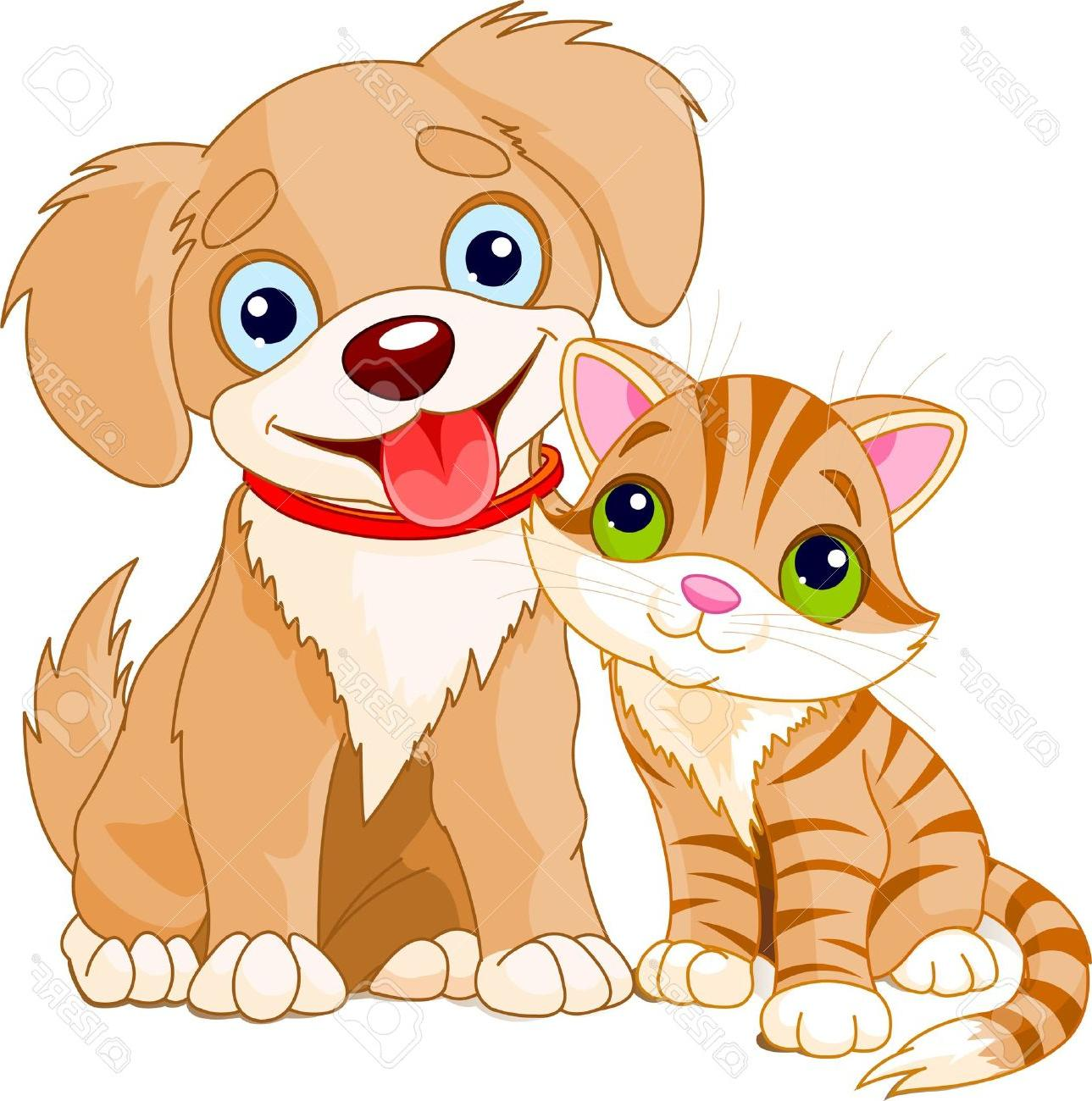 Free Puppy And Kitten Clipart.
