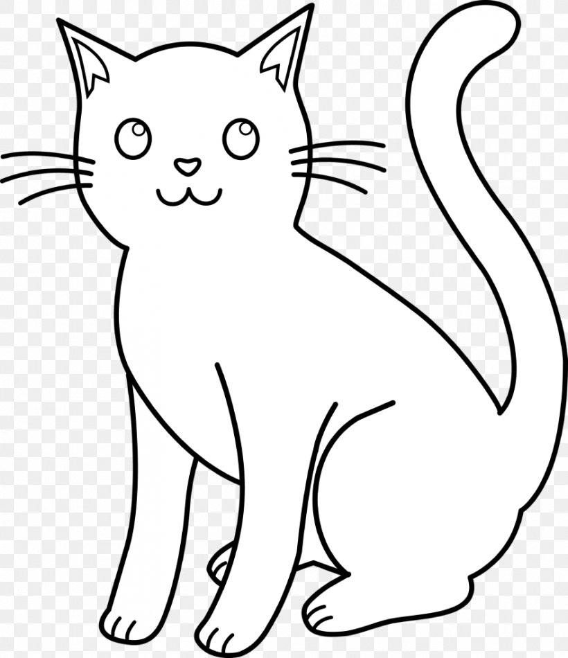 Cat Kitten Black And White Clip Art, PNG, 883x1024px, Cat.
