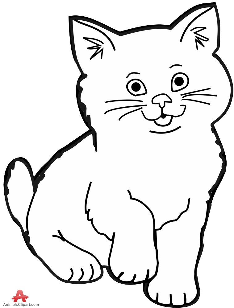 Black Cat White Kitten Clipart Collection Transparent Png.