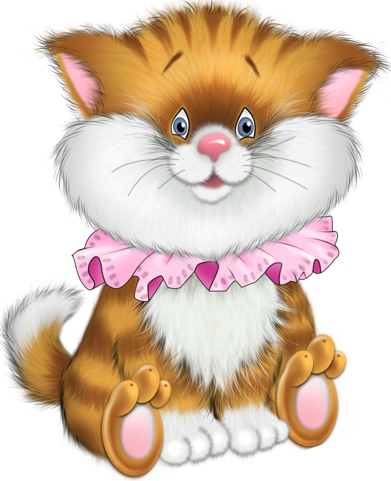 Tiger Kitten Cartoon Free Clipart.
