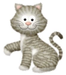 Cute Kitten Cartoon Free Clipart.