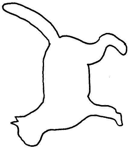 Clipart Felt Cat Outline.