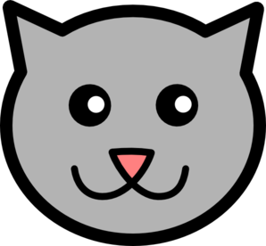 752 Cat Face free clipart.