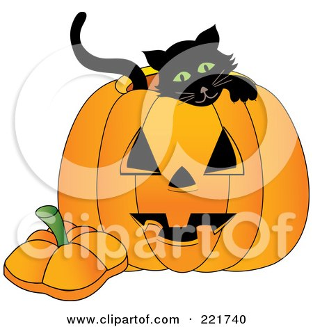 Royalty Free Halloween Pumpkin Illustrations by Pams Clipart Page 1.