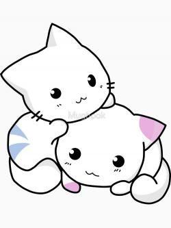 Sketch kitten free on. Kittens clipart outline in 2019.