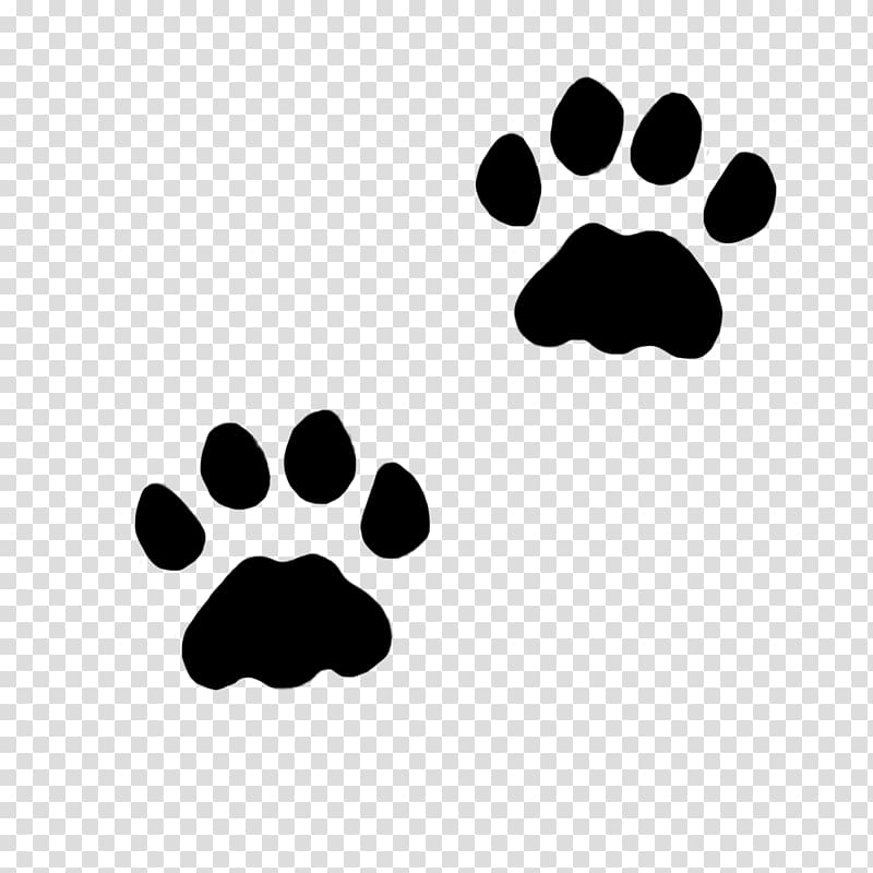 Two black paws , Cat Dog Paw Kitten , paws transparent.
