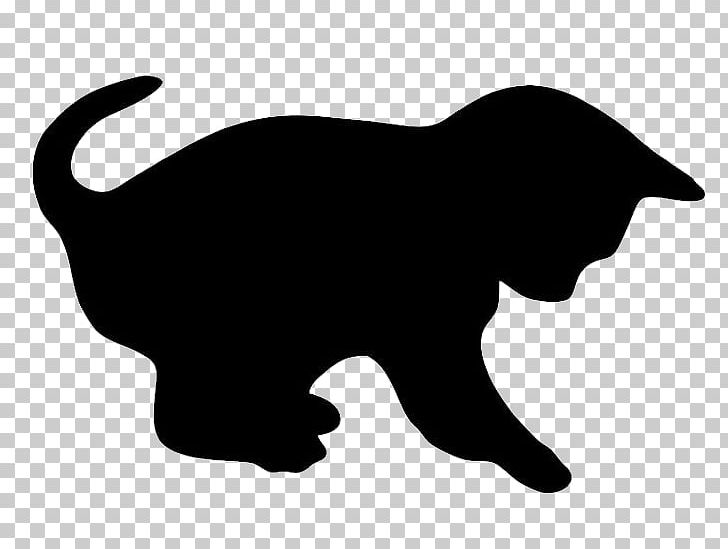 Cat Kitten Silhouette PNG, Clipart, Black, Black And White.