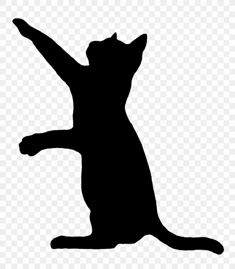 Cat Play And Toys Kitten Silhouette Clip Art, PNG.