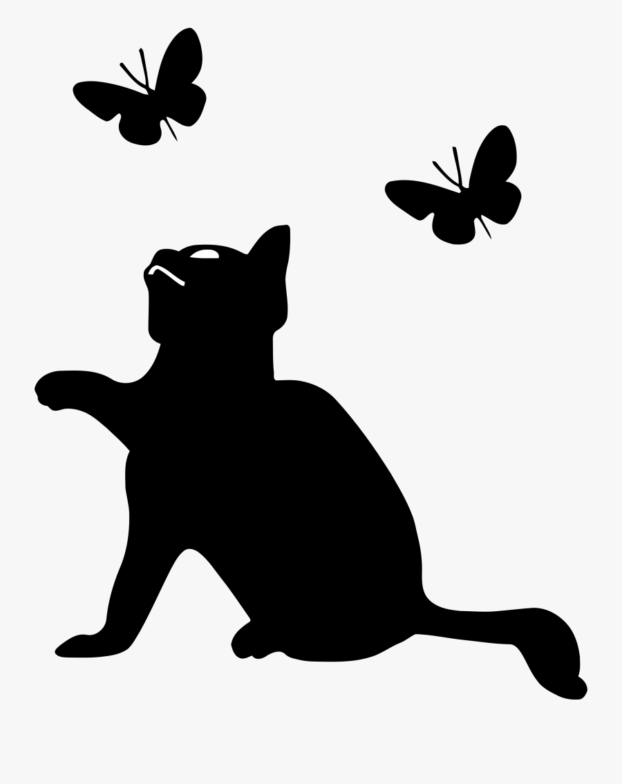 Silhouette Clipart Kitten.