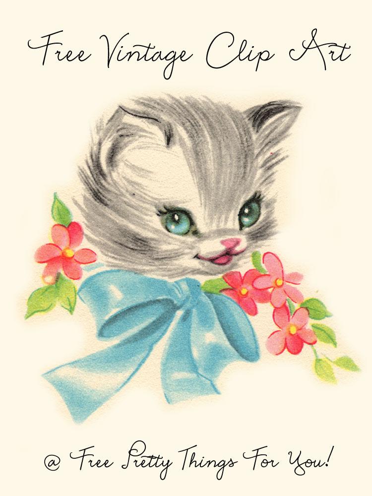 clip art, vintage, cats, kitties, clipart, cat, kitten, kitty.