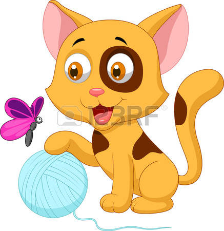 392 Kitten With Yarn Cliparts, Stock Vector And Royalty Free.
