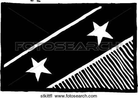 Clipart of St Kitts & Nevis Flag stkittfl.