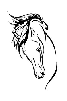 Abstract Horse Outline.