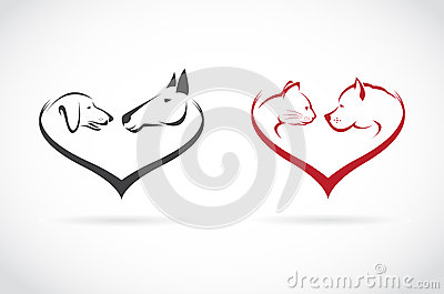 Veterinarian Heart Horse Dog Cat Bird Love Logo Stock Vector.