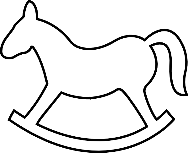 Rocking Horse Outline Clip Art at Clker.com.