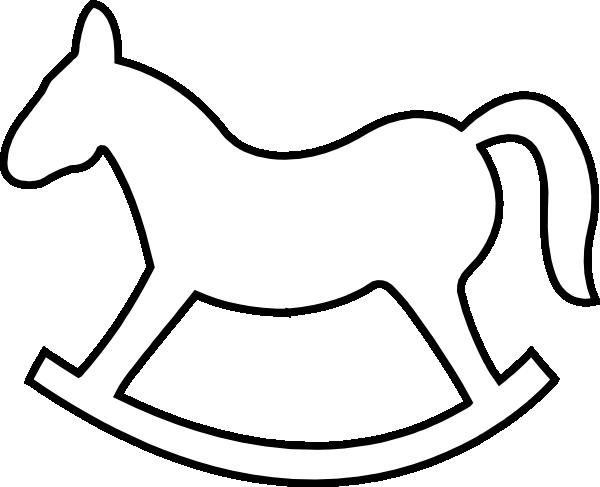 Rocking Horse Outline Clip Art at Clker.com.