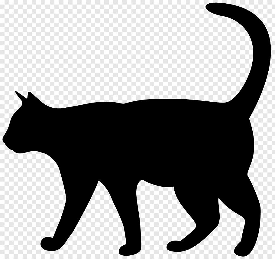 Cat Silhouette Kitten, Cat Silhouette free png.