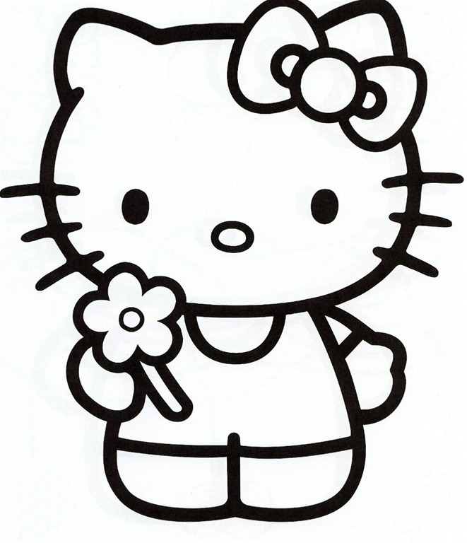 Free Black And White Hello Kitty, Download Free Clip Art.