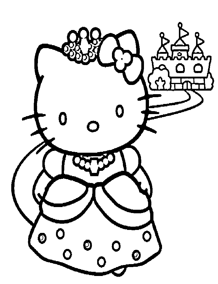 Hello Kitty Black And White Clip Art.