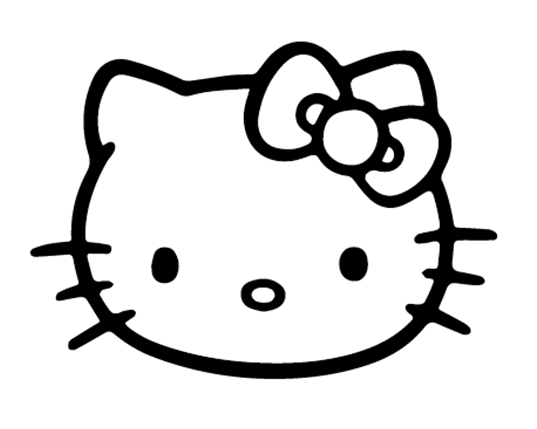 HELLO KITTY LOGO DECAL VINYL PAINTING STENCIL PACK *HIGH QUALITY*.