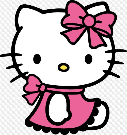 PSD, 21 PNG, Hello Kitty! Cartoon characters, Flowers, butterfly, bird.