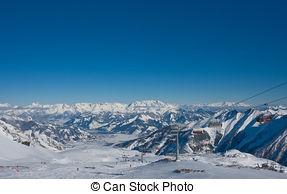 Stock Photography of Ski resort of Kaprun, Kitzsteinhorn glacier.