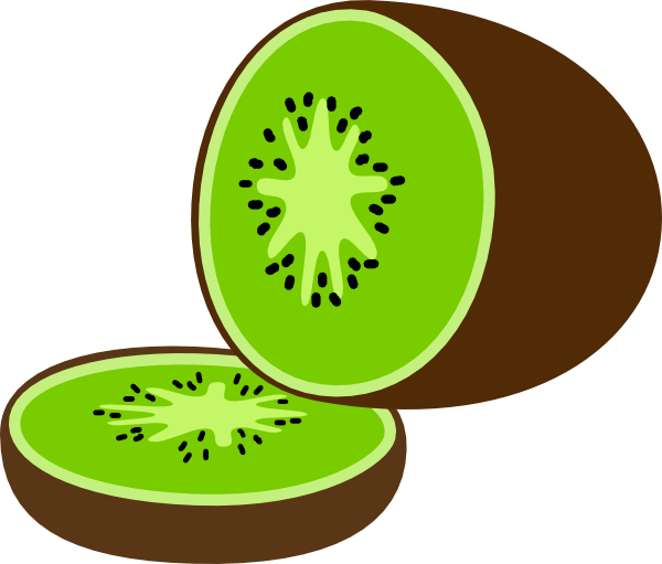 Kiwi Clipart Black And White.