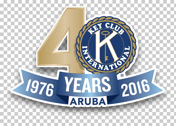 Colegio Arubano Key Club Kiwanis Logo Brand, 40 years PNG.