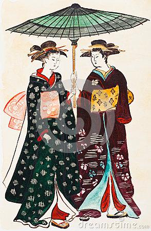 Ukiyo E Stock Illustrations.