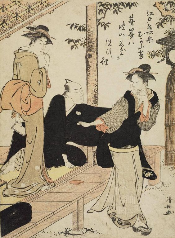 "Mukôjima"". Woodblock print. 1782, Japan, by artist Torii Kiyonaga."