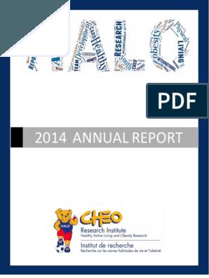 HALO 2014 Annual Report.