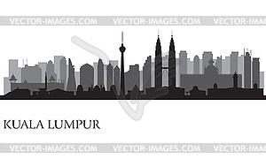Lumpur city skyline.